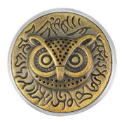 Ginger Snaps BRASS WISE OWL SN20-11 Interchangeable Jewellery Snap Accessory
