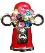 """Loom Charm """"Gumball Machine"""" With Rhinestones To Add To Your Rubber Band Bracelet!!!"""