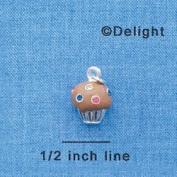 C4032+ tlf - Small Chocolate Cupcake with Multicoloured. Crystal Spri...