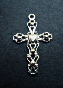 Sterling Silver Cross Charm / Pendant