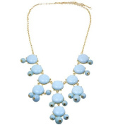 Bubble Necklace Sky Blue Inspired by J. Crew