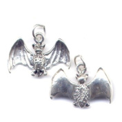 Gift Boxed Sterling Silver Bat Charm Gothic Jewellery