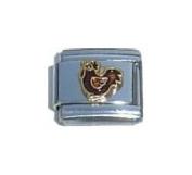 Small Chicken Italian Charm Bracelet Jewellery Link