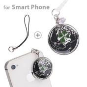 Genuine Four Leaf Clover Earphone Jack Accessory