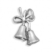 Christmas or Wedding Bells Charm Sterling Silver, Made in the USA