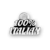 100 Percent Italian Sterling Silver Word Charm