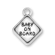 Baby On Board Sign Sterling Silver Charm