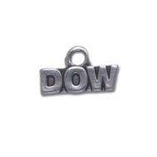 Dow Stock Market Sterling Silver Charm