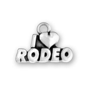 I Love Rodeo Sterling Silver Charm