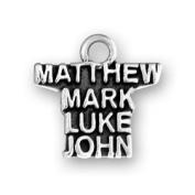 Matthew Mark Luke John Sterling Silver Charm