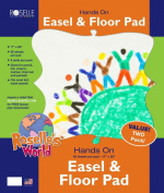 Roselle Easel and Floor Pad, 43cm x 50cm , 50 Count Each Pad, 2-Pack