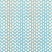 Canvas Corp NOM468820 Printed Single-Sided Cardstock 30cm x 30cm , Baby Blue & Ivory Dot Reverse, 15 Per Pack