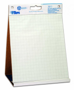 TOPS Easel Pad with Tabletop Easel, 30 Self Stick Sheets, White , 60cm x 60cm