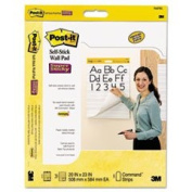 Self-Stick Wall Easel Ruled Pad, 25 x 30, White, 20 Sheets/Pad