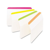 Post-it 686A1BB - Durable Hanging File Tabs, 2 x 1 1/2, Striped, Assorted Colours, 24/Pack-MMM686A1BB