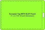 Luggage Tag Laminating Pouches, Large European Size, 7 MIL (7.6cm x 10cm - 1.1cm ) slotted
