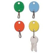 NEW - Oval Snap-Hook Key Tags, Plastic, 1 1/2 x 1 1/2, Assorted, 20/Pack - 2018009W47