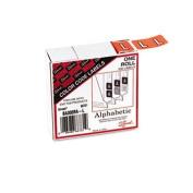 Smead 66731 - Barkley-Compatible Labels, Letter L, 1 x 1-1/2, Lt Orange, 500/Roll
