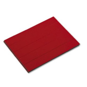 Magna Visual PMR-763 Magnetic write-on/wipe-off pre-cut strips 7/8h x 6w, red, 25/pack