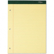 TOPS 63387 - Double Docket Ruled Pads, Legal Rule, Ltr, Canary, 6 100-Sheet Pads/Pack