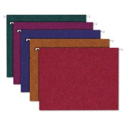 Envirotec Recycled Coloured Hanging File Folders, Letter, Assorted, 20/Box