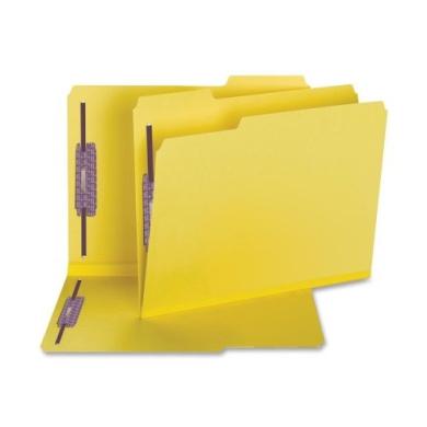 New-Smead 14939 - Coloured Pressboard Fastener Folders, Letter, 1/3 Cut, Yellow, 25/Box - SMD14939