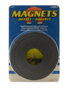 The Magnet Source Flexible Magnetic Strips with Adhesive 2.5cm . x 10 ft. [PACK OF 2 ]