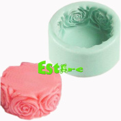 Silicone Candle Mould DIY 3D Flower Mould S0140