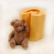 3D Sitting Teddy Bear Soap Mould
