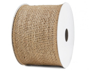 Burlap Ribbon Wired 6.4cm x 10yd