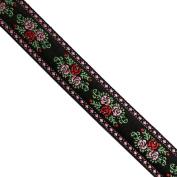 "5 yards 3/4"" WIDE 20mm Flowers Jacquard Ribbon JR231"