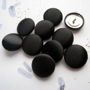 "10, 5/8"" (15 mm) Black Satin Button for Gowns, Tuxedo, Suits, Jackets and Pants"