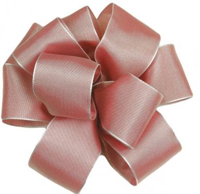 Offray Wired Edge Gelato Craft Ribbon, 1.6cm Wide by 25-Yard Spool, Pink Shadow