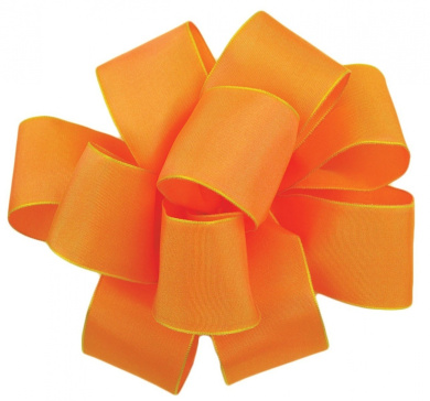 Offray Wired Edge Gelato Craft Ribbon, 1.6cm Wide by 25-Yard Spool, Cantaloupe