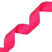Morex Ribbon Neon Grosgrain Ribbon, 2.2cm by 20-Yard, Neon Hot Pink