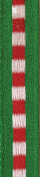 Entertaining with Caspari Green with Red Squares Ribbon, 8-Yard