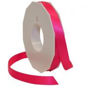 Morex Ribbon Neon Brights Satin, 1.6cm by 50-yard, Neon Hot Pink
