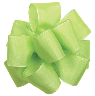 Offray Wired Edge Gelato Craft Ribbon, 3.8cm Wide by 25-Yard Spool, Clean Green