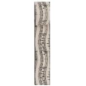 Kurt Adler 6.4cm x 10 Yards Musical Notes Wire Woven Ribbon