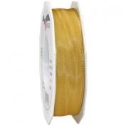 Morex Ribbon French Wired Lyon Ribbon, 2.5cm by 27-Yard Spool, Old Gold
