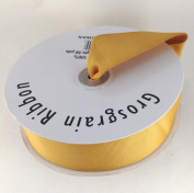 3.8cm Old Gold Grosgrain Ribbon 50 Yards Spool Solid Colour.