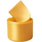 Papilion R07430538066050YD 3.8cm . Single-Face Satin Ribbon 50 Yards - Yellow Gold