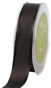 May Arts 2.5cm Wide Ribbon, Black Grosgrain with Satin Edge
