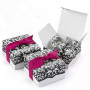 Hortense B. Hewitt Wedding Accessories Dynamic Design White and Black Favour Boxes, 25-Pack