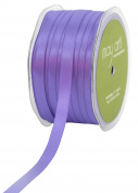 May Arts 1cm Wide Ribbon, Light Purple Satin