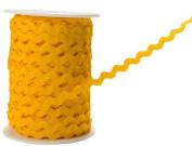 May Arts 0.6cm Wide Ribbon, Yellow Ric Rac