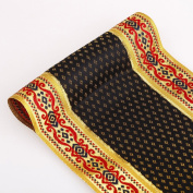 Neotrims 140mm Exclusive Wide Indian Salwar Sari Trim Ribbon Border; Black with Gold, Baroque, Renaissance, Indian Style. Trimming By The Yard. Great Price Limited Edition Stunning Decorative Border, Non Repeatable.