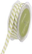 May Arts 1cm Wide Ribbon, Light Green Grosgrain Stripe