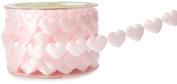 May Arts 1.9cm Wide Ribbon, Pink Hearts