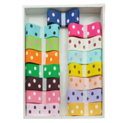 Oparty Grosgrain Ribbon Dots Group, 48 1-Yard Rolls of 2.2cm , Party Favours